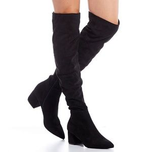 Steve Madden Eagerly Over the Knee Suede Boots 7.5